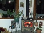 Full moon & wood stove for chilly nights