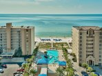 Balcony Views of the Gulf and Outdoor Pools