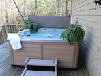 Relaxing hot tub on rear deck