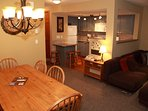 Entertain your group at the lovely dining area with a game of cards or a delicious meal!