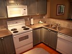 The fully equipped kitchen offers everything you need for preparing your home cooked meals