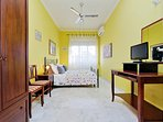 Yellow room, double bed, A/C