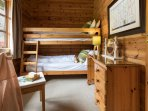 Bedroom 3 is the Bunk bedroom, great for kids to formulate long lasting loving log cabin memories