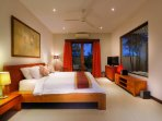 bedroom equiped with AC/ceiling fan,satellite TV, dvd player