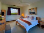 bedroom offering an amazing view on the  beautiful rice fields