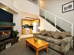 Hang out with friends and family in the comfortable living area