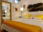Basement suite with king size bed, double bed sofa and bathroom with shower. WII and Sky Tv channels