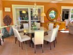 Dining for 10 persons in the 40 sqm terrace