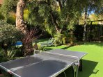 Outside ping pong table