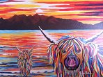 Stunning wall art - Isla and Arran McCoo - by the Steven Brown - a very talented local artist