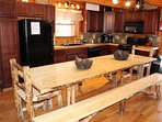Large hand made dining table