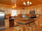 All custom kitchen w/stainless appliances