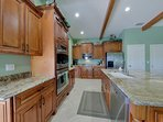 The remodeled Kitchen with double wall oven and all modern appliances