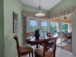 The Kitchen/Family Room area also has a Breakfast Nook for 4 persons