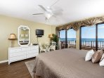 Gulf front master bedroom has views that will take your breath