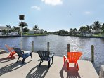 Life is Really Good. Sit on the boat dock sunning, fishing or watching manatee.