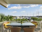Amazing view of the marina!