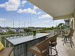 Private Balcony Off Dining Area - Lovely Canal & Marina View