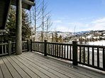 Step onto the spacious deck, enjoy sunshine and BBQ's in summer and watch skiers and snowboarders pass by in winter!