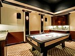 Challenge your friends and family to a game of air hockey.