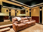Custom high tech theater and game room, the perfect place to gather with family and friends.