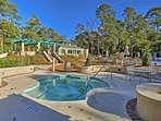 Enjoy complimentary access to the community amenities, including a pool, hot tub and fitness center!