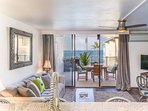 Modern and inviting condo with ocean views and everything one could need while in paradise