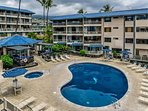 You don't even have to leave the complex to enjoy soaking up the sun ocean-side