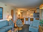Rest easy inside a condo filled with comfort and charm.