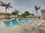 You'll love enjoying sunny days out in this pool area.