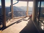 panoramic views of the valley and the Himalayas from the verandah...