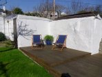 And Relax!!!!  The private suntrap.  Bliss.