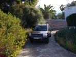 Private driveway to villa.