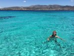 The Blue Lagoon, off the southern coast of Paros