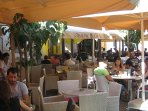 Limassol's cosmopolitan café culture near the Castle...