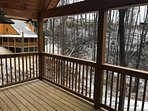 Large Covered Deck with Beautiful Mountainous Views