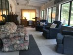 sunroom is also has two twin beds that can be used for extra guests, kids love it.