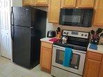Kitchen w/ New Stove & Microwave