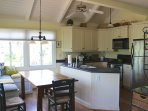 The open floor plan allows everyone to be involved in the activities.