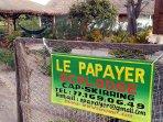 Entrée de la villa Ecolodge Le Papayer