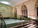 Indoor pool in the historic chapel