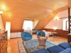 Cozy attic space with 2 extra beds...