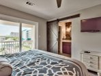 Large master bedroom with a king sized bed