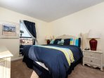 Updated master bedroom furnishings and carpet