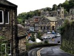 Looking from Rocher into Holmfirth