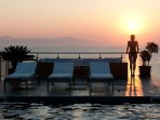 Enjoy the sunset by the pool