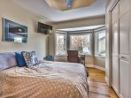 Upper level bedroom 3 with queen bed, 32' HD Smart TV and Direct TV with 180 premium stations
