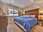 Lower level bedroom 5 with king bed and 32' Smart TV with shared full bathroom