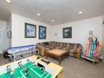Lower Level Living Room & Gaming Area