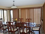 Dining room with lots of natural light and the perfect table to share a big meal.